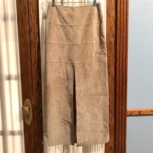 bebe fawn suede maxi skirt